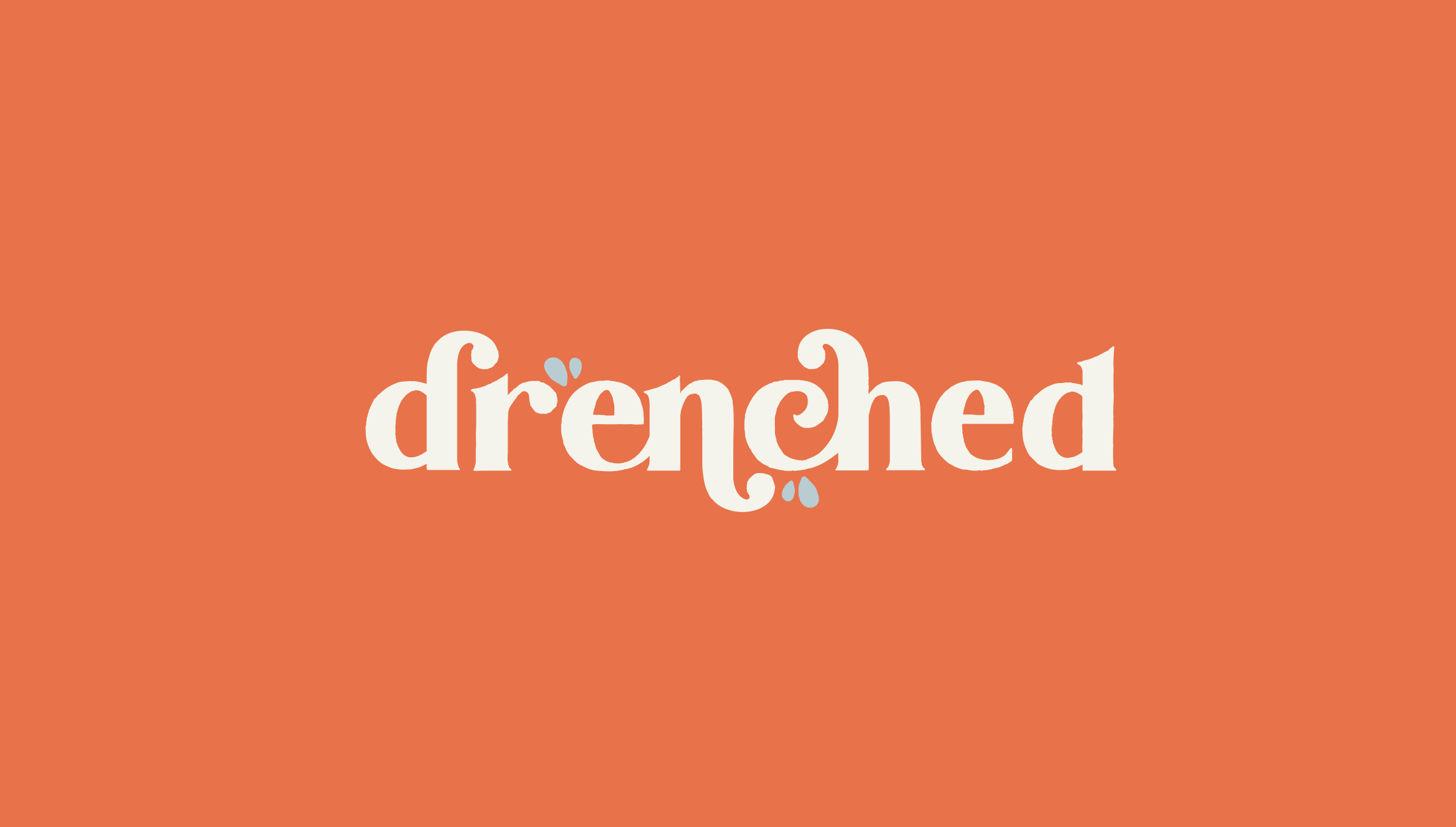Logo design for Drenched, selling luxury products that are essential for water-based needs - designed by Wiltshire-based graphic designer, Kaye Huett