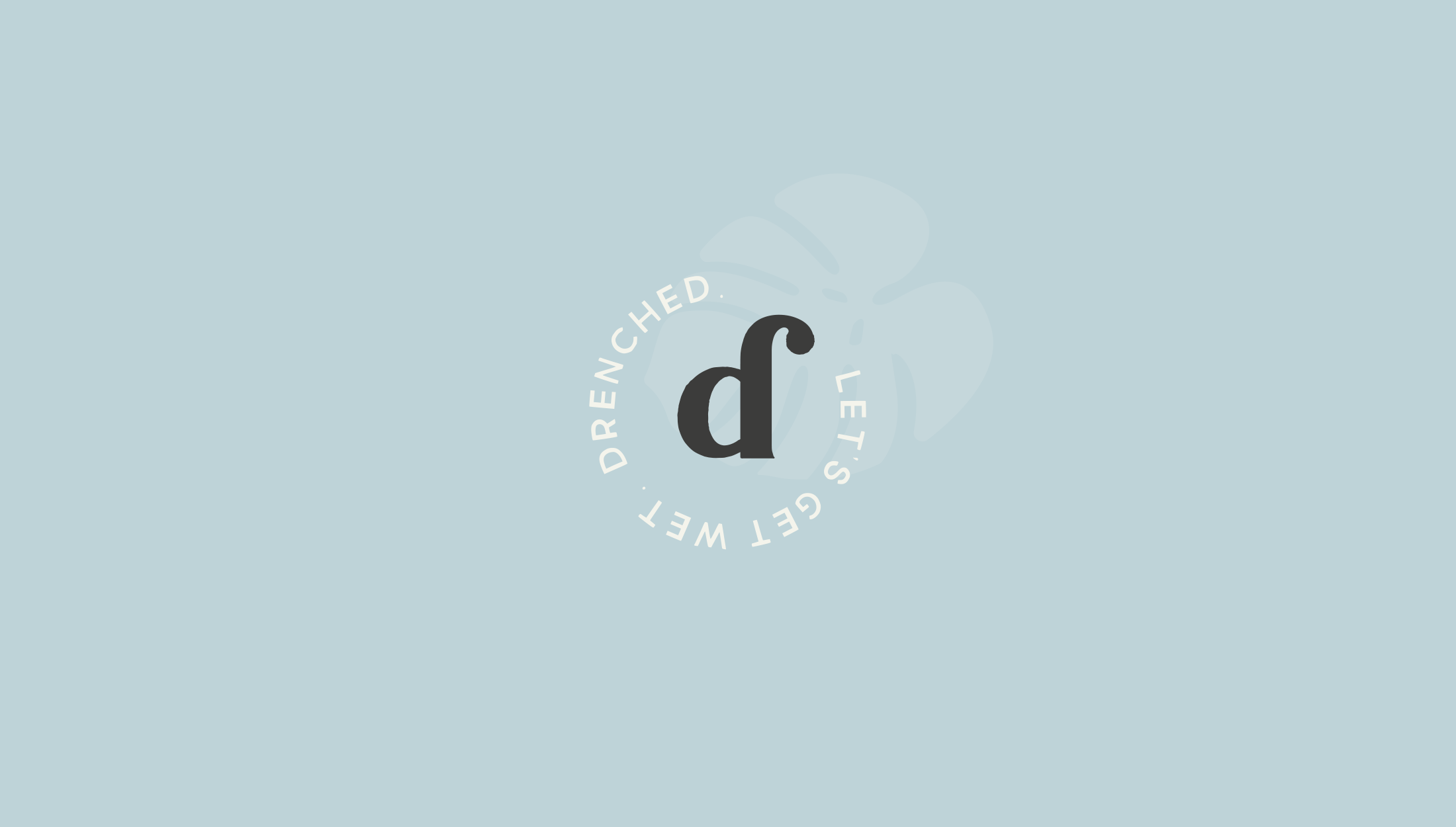 Logo mark design for Drenched, selling luxury products that are essential for water-based needs - designed by Wiltshire-based graphic designer, Kaye Huett
