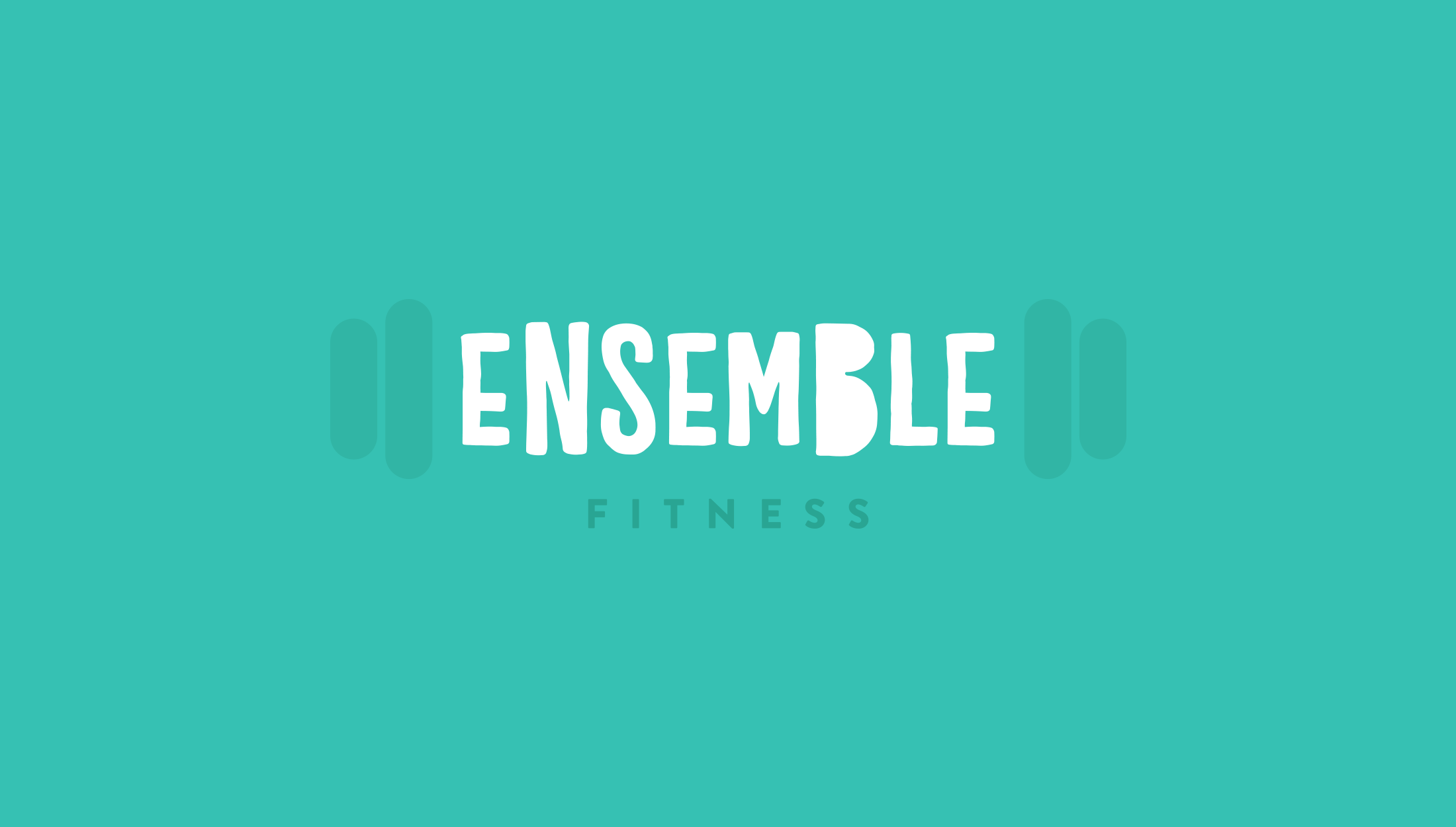 Final logo mark for Ensemble Fitness, personal training and group sessions - designed by Wiltshire-based graphic designer, Kaye Huett