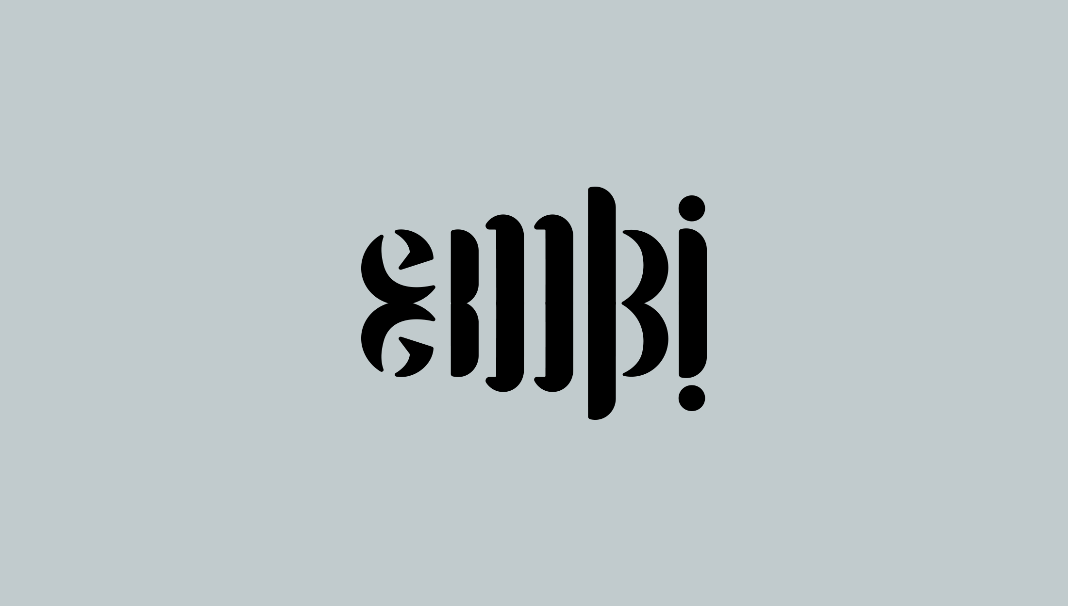 Logo design for Embi Studios, exclusive womenswear line based in London - designed by Wiltshire-based graphic designer, Kaye Huett