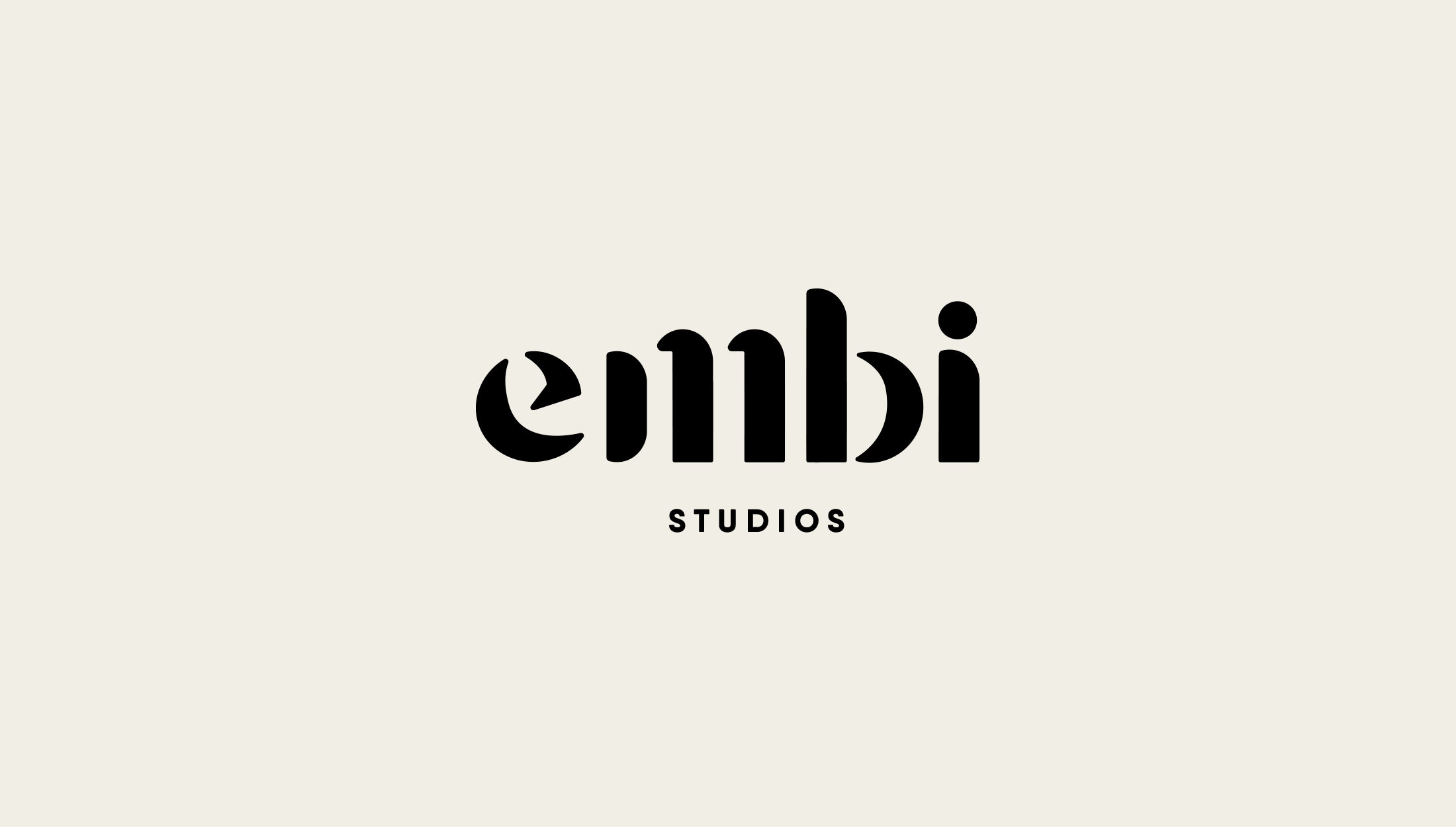 Logo design for Embi Studios, London-based clothing line offering unique items and limited edition seasons - designed by Wiltshire-based graphic designer, Kaye Huett