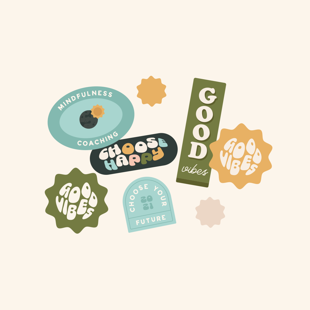 Submark for Bobbie at Good Vibes, a mindfulness & coaching business for women within the creative & tech industries - designed by Wiltshire-based graphic designer, Kaye Huett