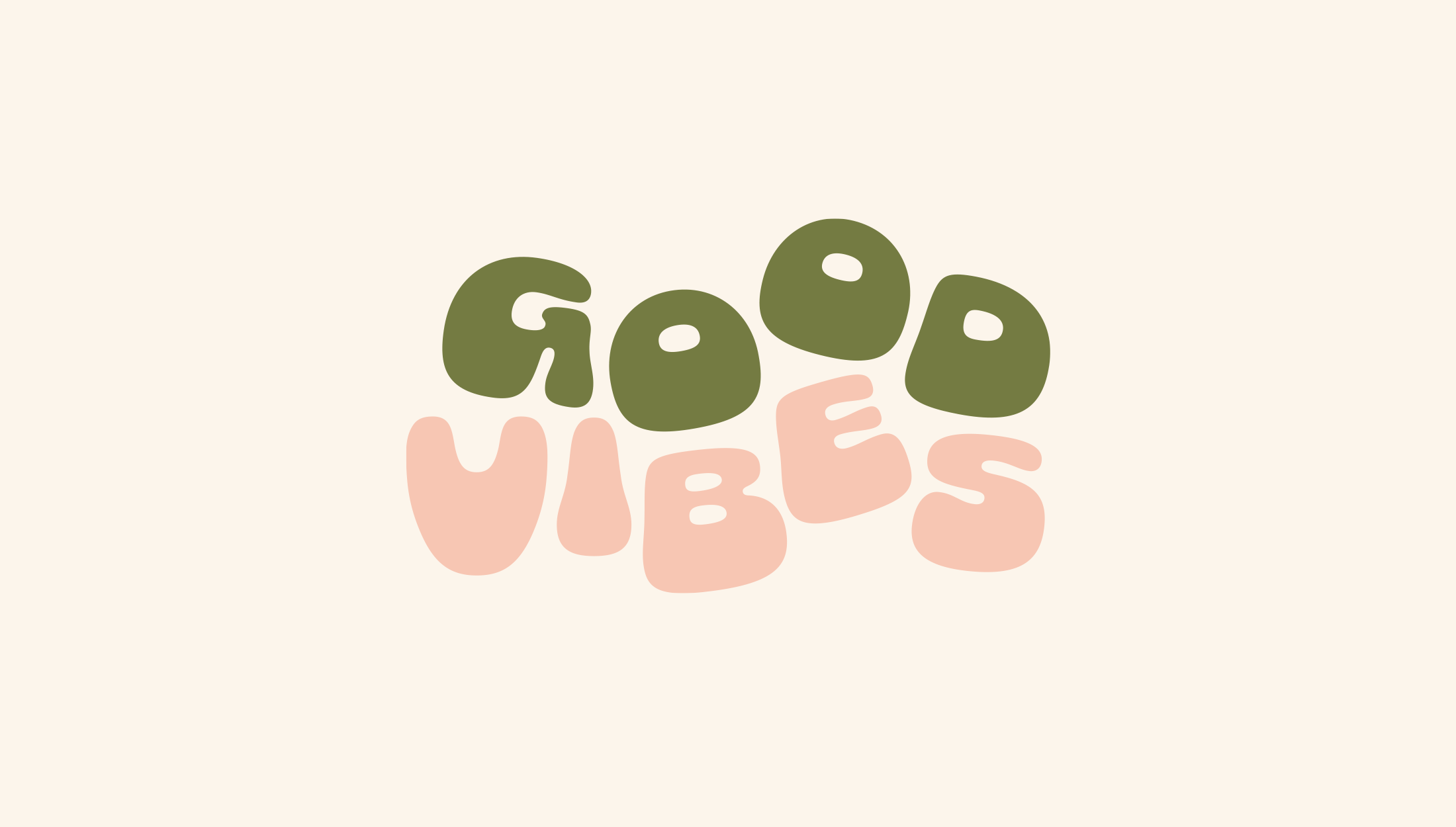 Logo design for Bobbie at Good Vibes, a mindfulness & coaching business for women within the creative & tech industries - designed by Wiltshire-based graphic designer, Kaye Huett