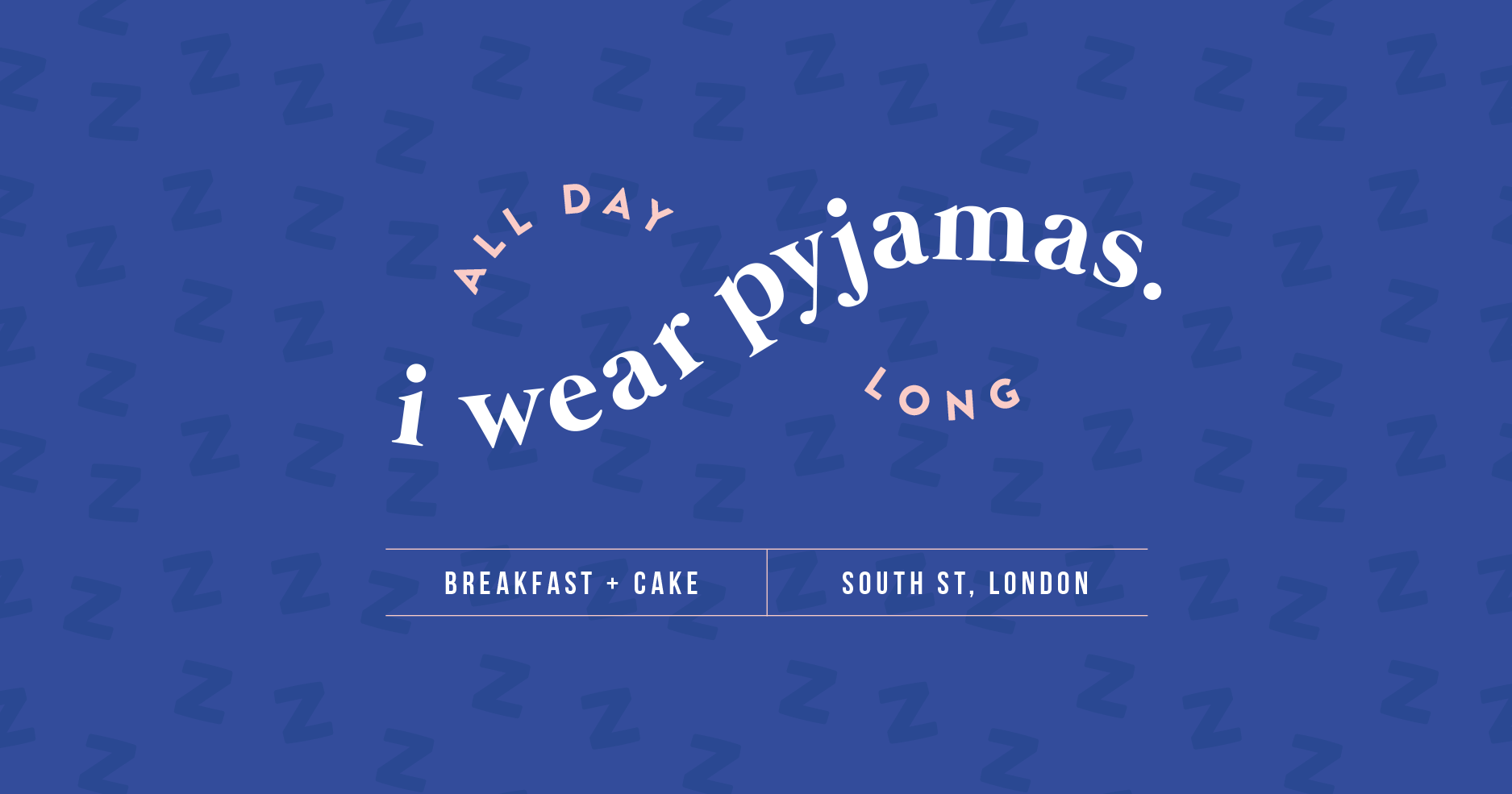 Final logo design for i wear pyjamas, a self-confessed breakfast & cake bar  - Designed by Wiltshire-based graphic designer, Kaye Huett