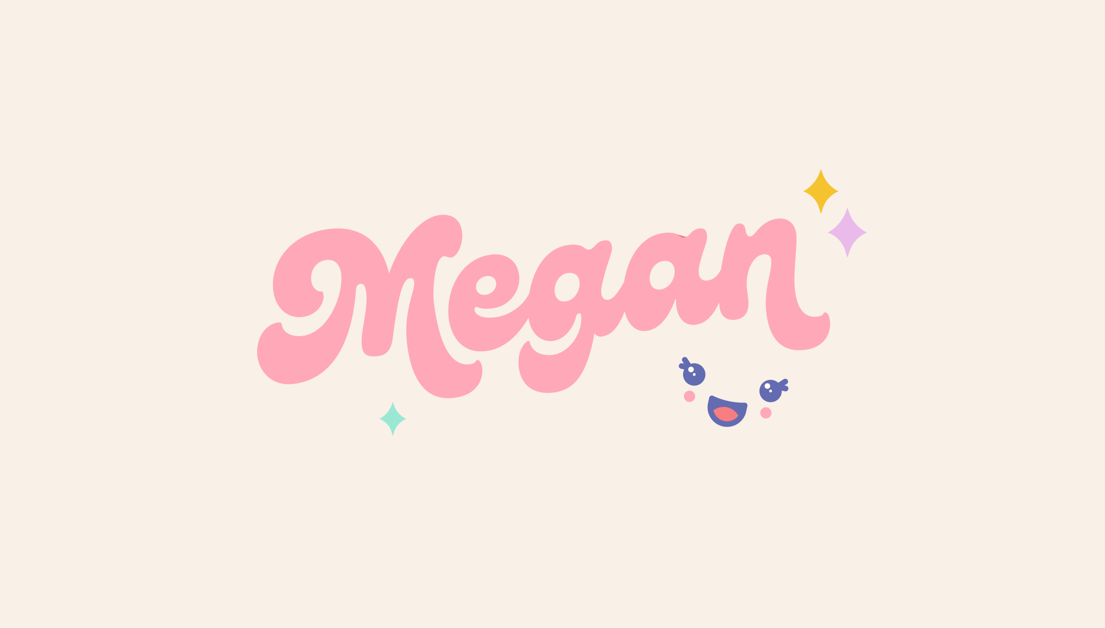 Logo design for MeganPlays, a successful gaming & lifestyle youtuber - designed by Wiltshire-based graphic designer, Kaye Huett
