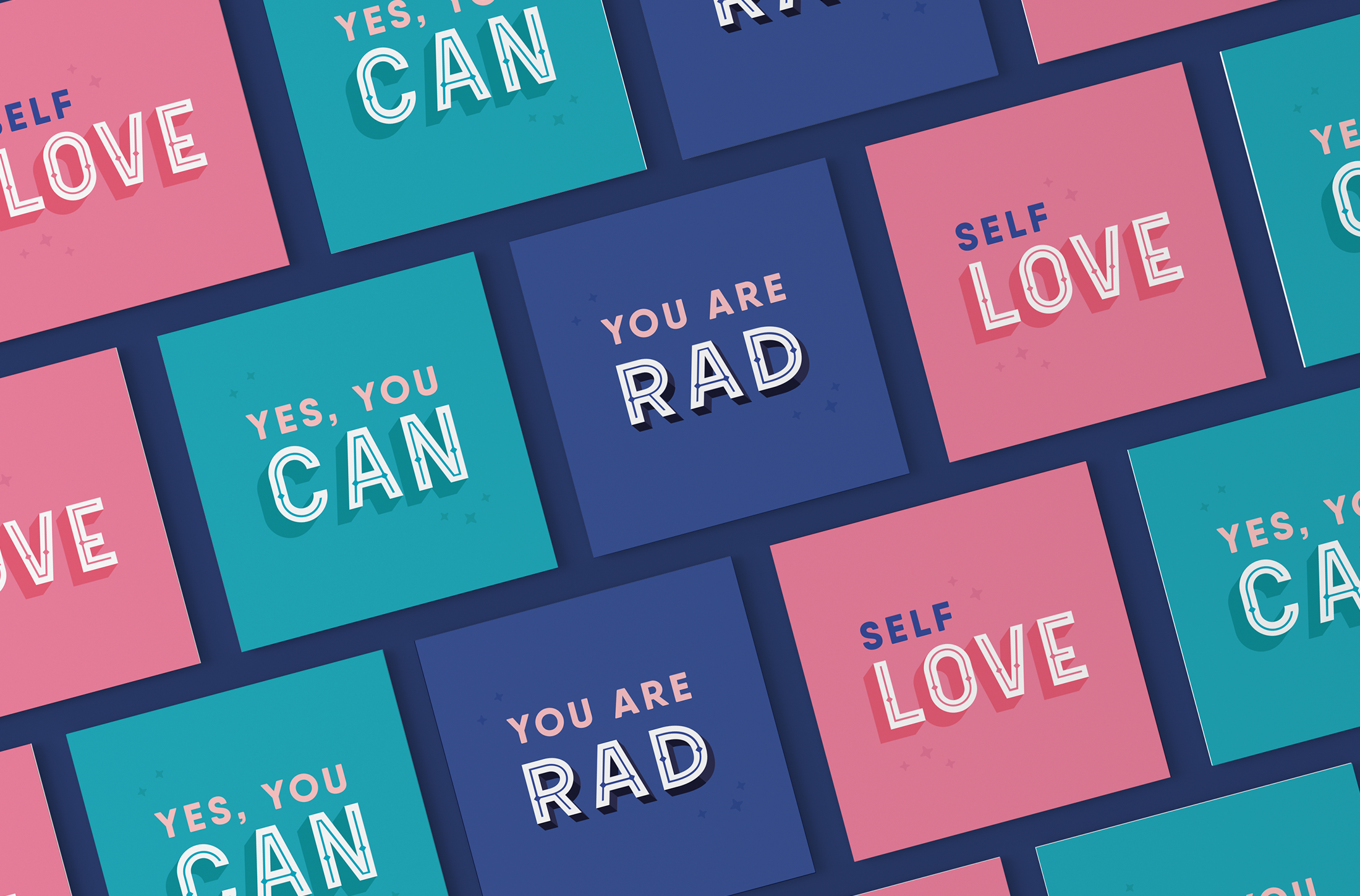 Business card design for My Radical Self, an online community and blog for women focusing on self-love, feminism and mindfulness - designed by Wiltshire-based graphic designer, Kaye Huett