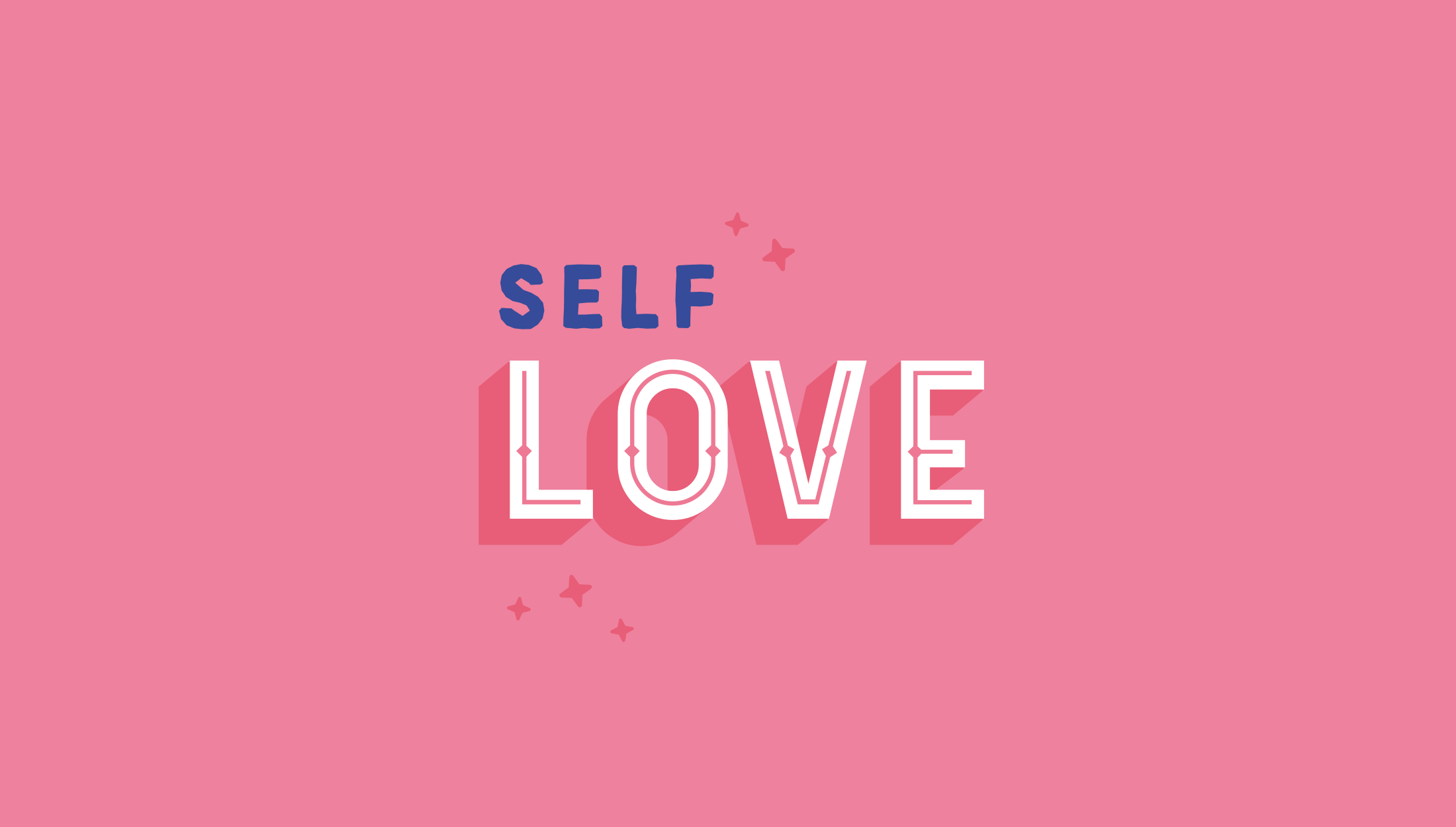 Affirmation logo mark design for My Radical Self, an online community and blog for women focusing on self-love, feminism and mindfulness - designed by Wiltshire-based graphic designer, Kaye Huett