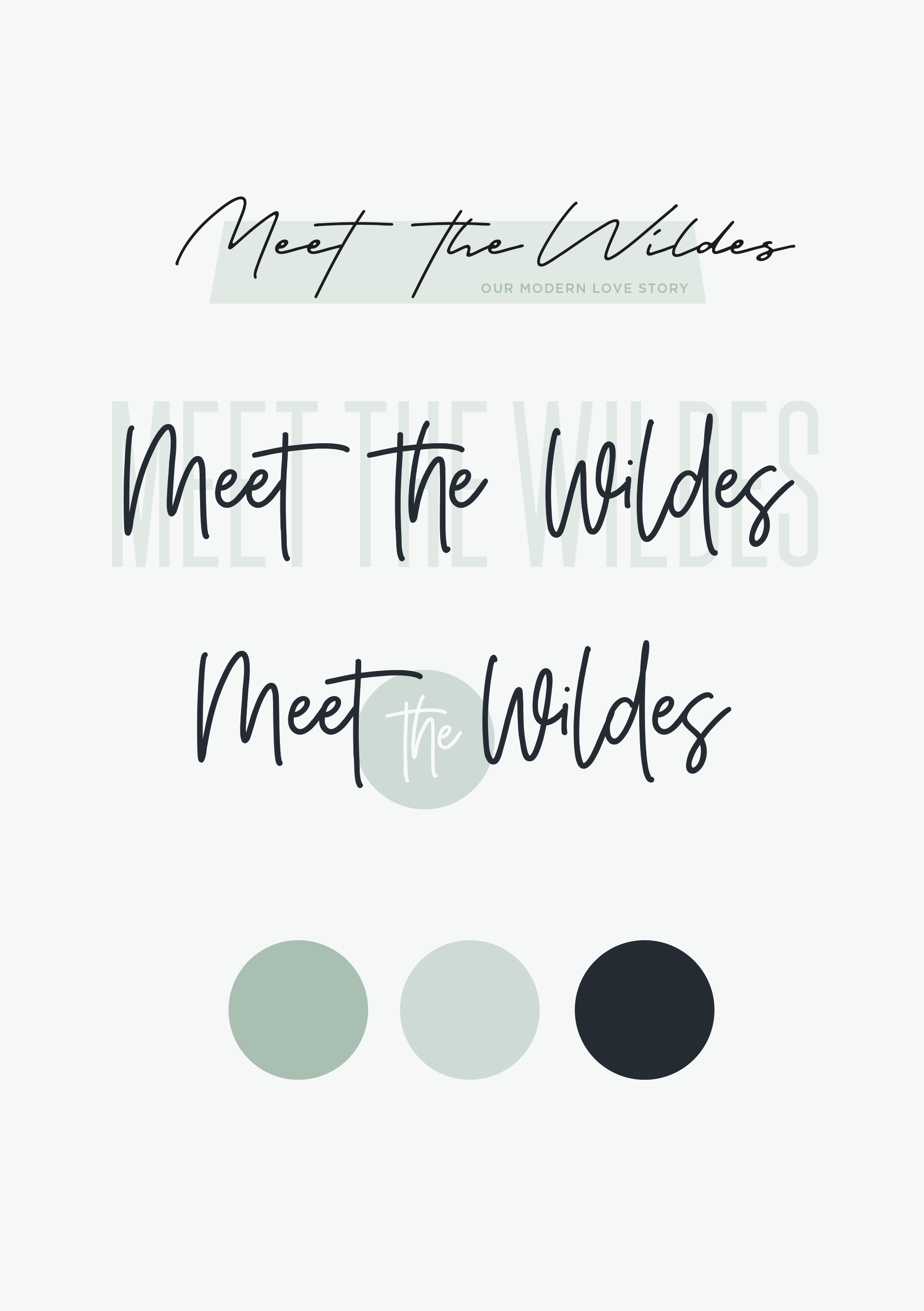 Initial development of new branding/header design for Meet the Wildes, family & lifestyle blog - Designs by Kaye Huett, Wiltshire-based graphic designer