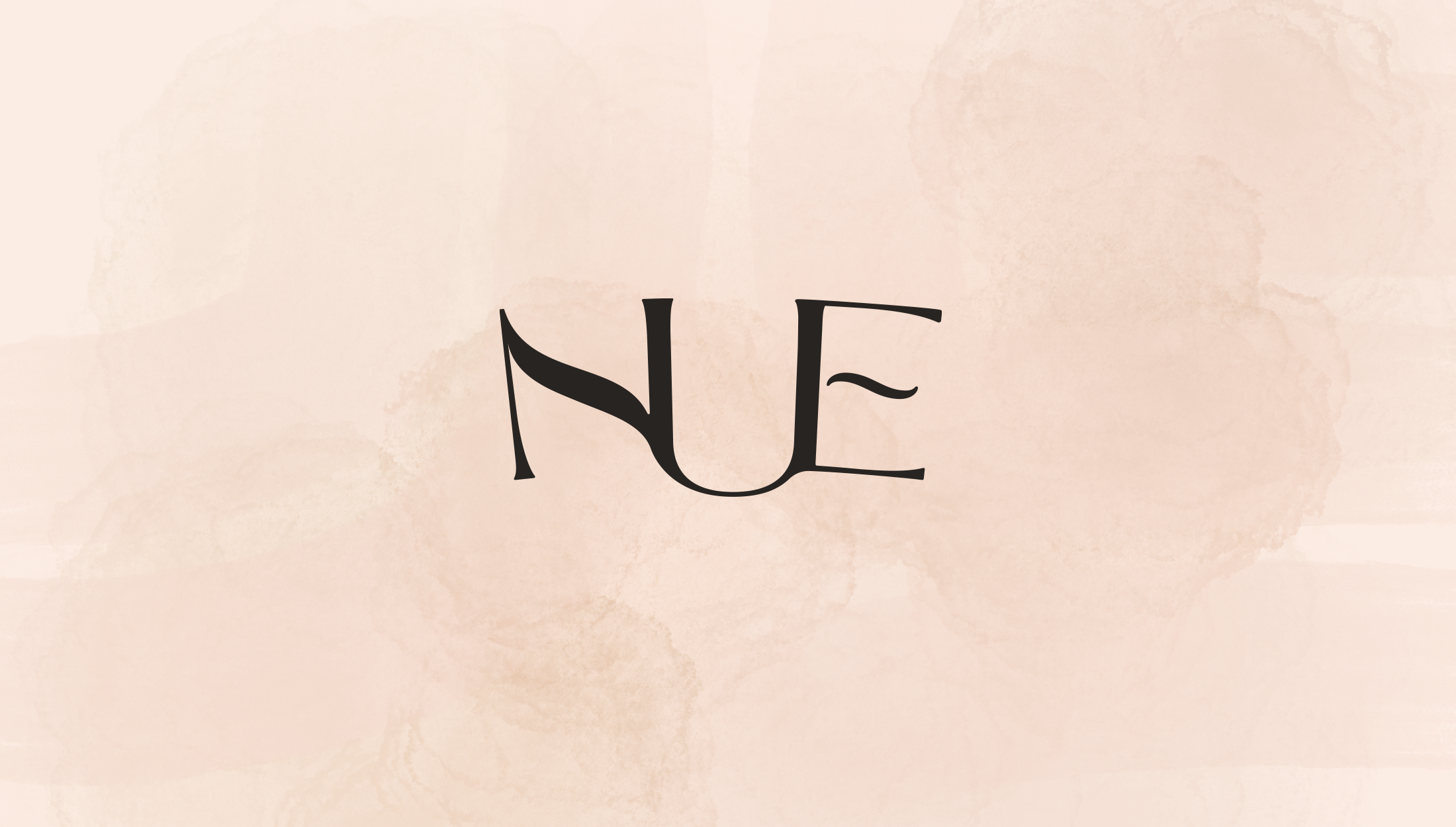 Logo design for Nue, home, beauty & lifestyle brand specialsing in nude shades for their products - designed by Wiltshire-based graphic designer, Kaye Huett
