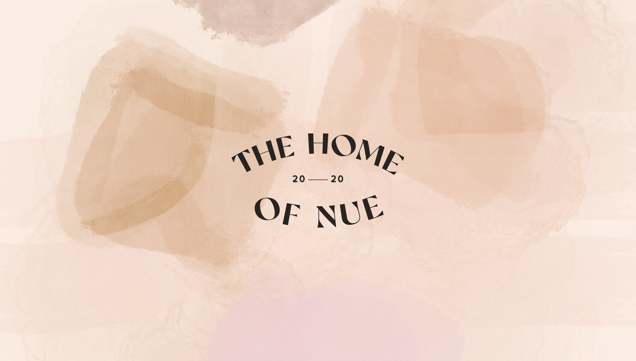Logomark for Nue, home, beauty & lifestyle brand specialsing in nude shades for their products - designed by Wiltshire-based graphic designer, Kaye Huett