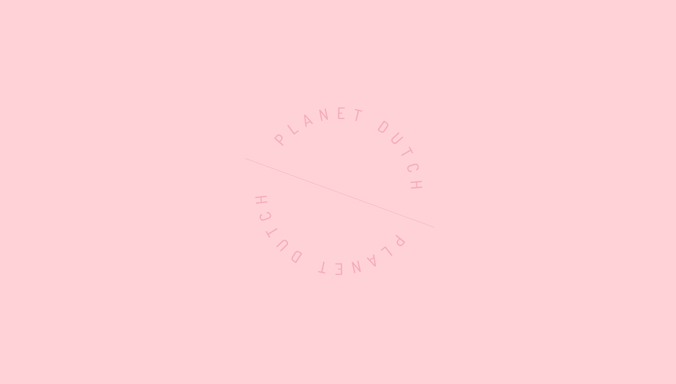 Final logo mark design for Planet Dutch, a community for expatriate women on how to survive in the Netherlands by learning their language & culture - designed by Wiltshire-based graphic designer, Kaye Huett