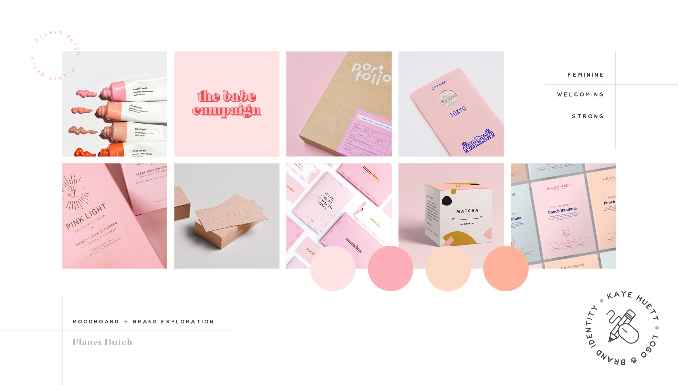 Moodboard for Planet Dutch, a community for expatriate women on how to survive in the Netherlands by learning their language & culture - designed by Wiltshire-based graphic designer, Kaye Huett