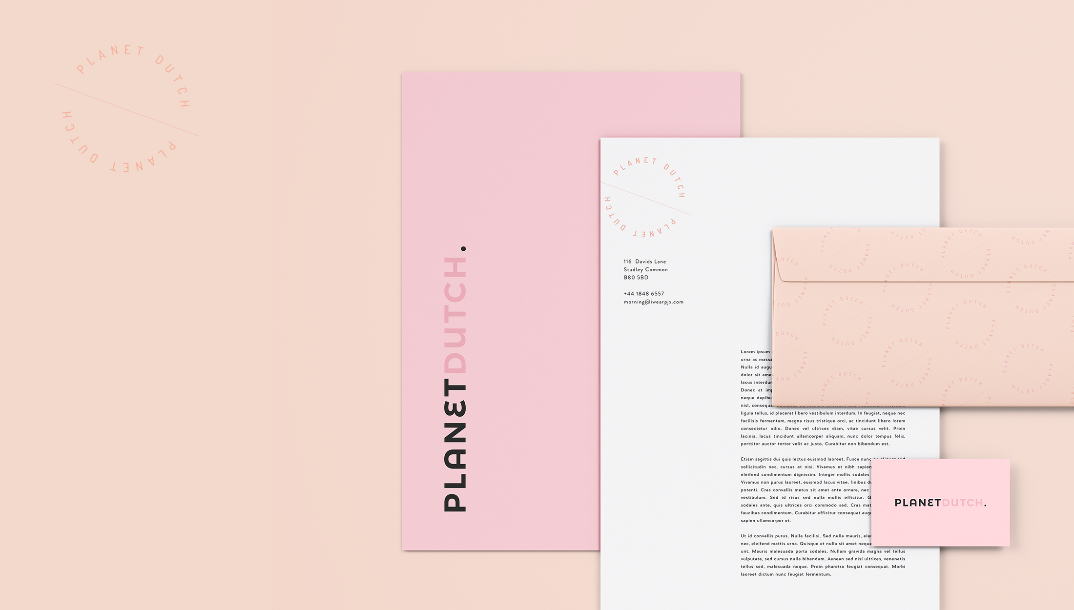 Stationery design for Planet Dutch, a community for expatriate women on how to survive in the Netherlands by learning their language & culture - designed by Wiltshire-based graphic designer, Kaye Huett