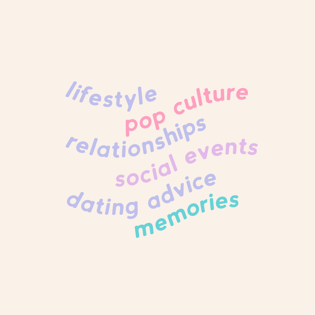 Subject titles for Party of Two, Podcast by gaming couple Megan and Zach, discussing their lives, popular culture and social events - designed by Wiltshire-based graphic designer, Kaye Huett