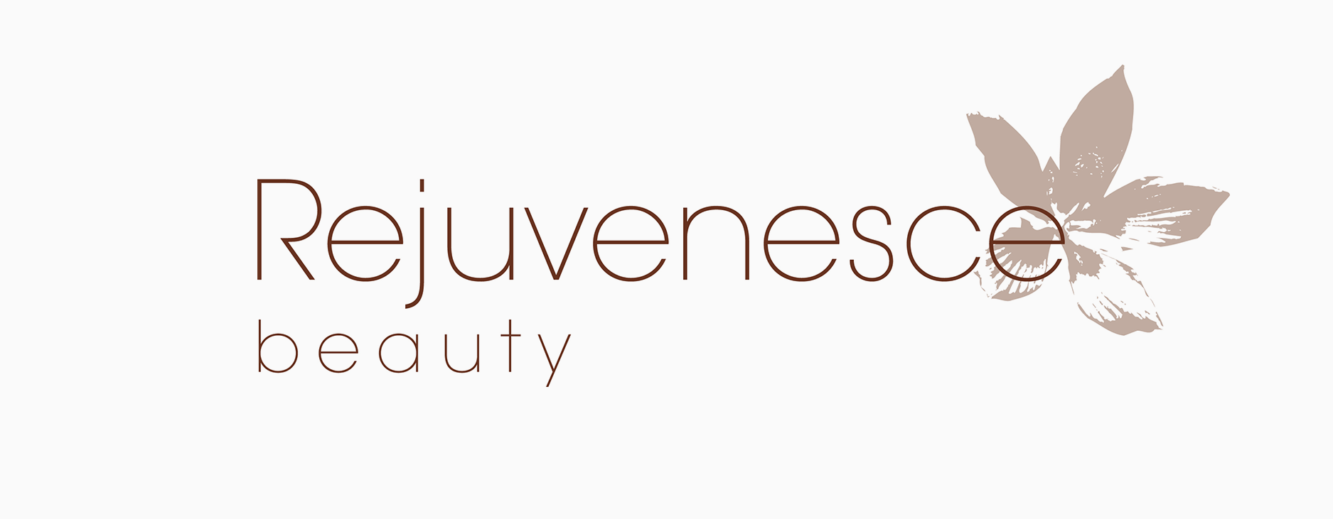 The original logo for beauty salon brand, Rejuvenesce, based in Marlborough, Wiltshire - Designed by Wiltshire-based graphic designer, Kaye Huett