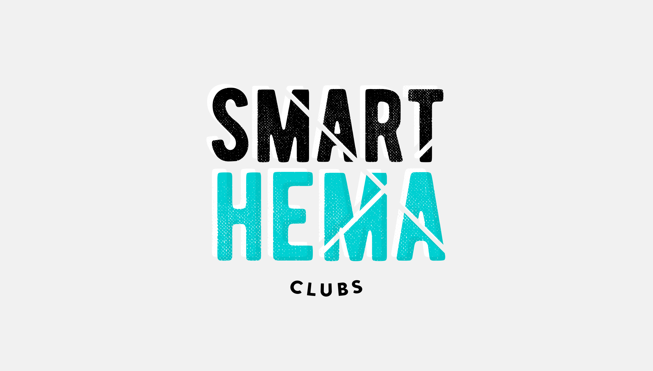 Horizontal logo design for Smart Hema Clubs, a sports club aiming to bring sword fencing to the masses, any age, any class, any ability - designed by Wiltshire-based graphic designer, Kaye Huett