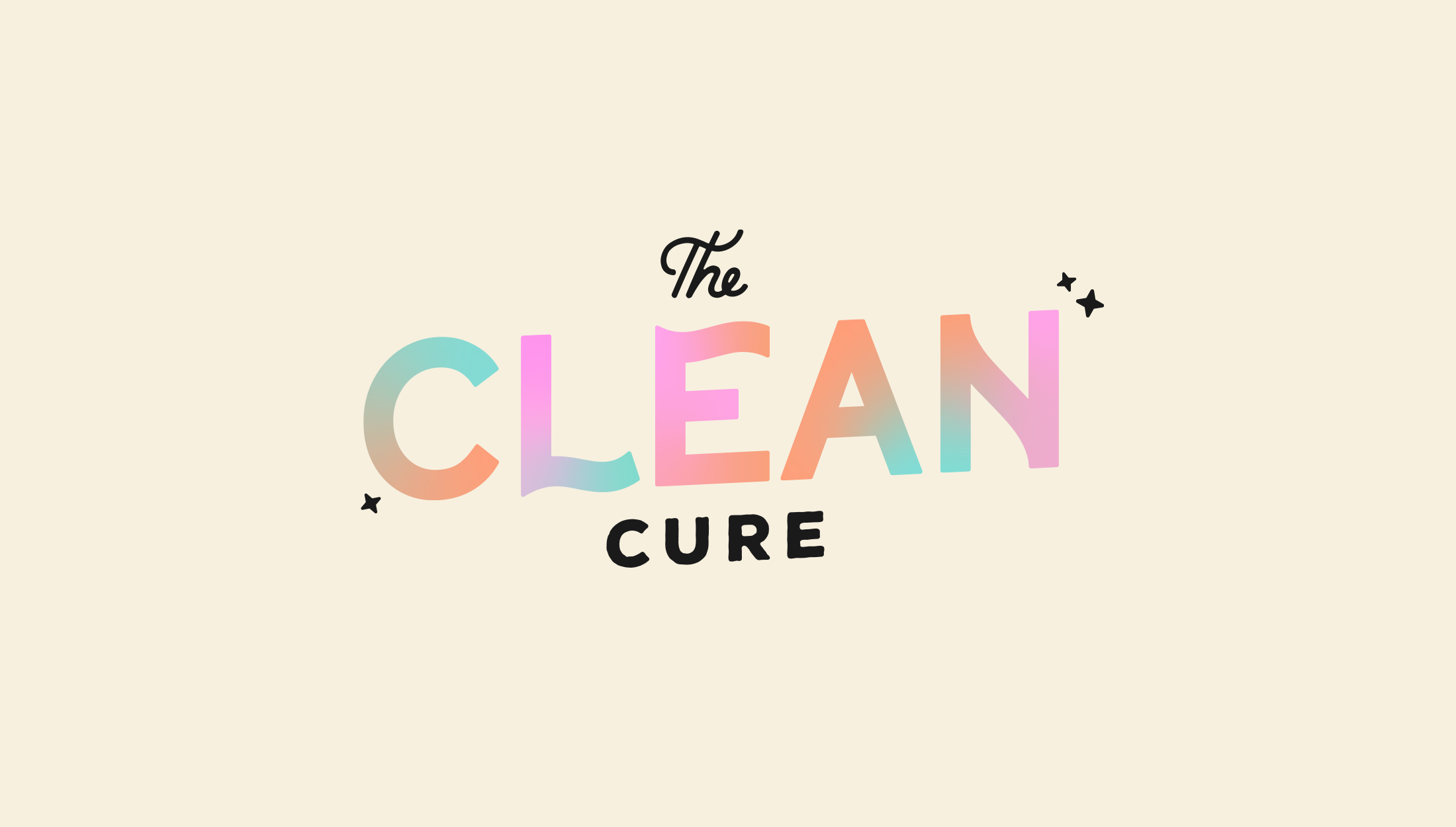 Logo design for The Clean Cure, helping you get organised by delving to the root of the problem - designed by Wiltshire-based graphic designer, Kaye Huett