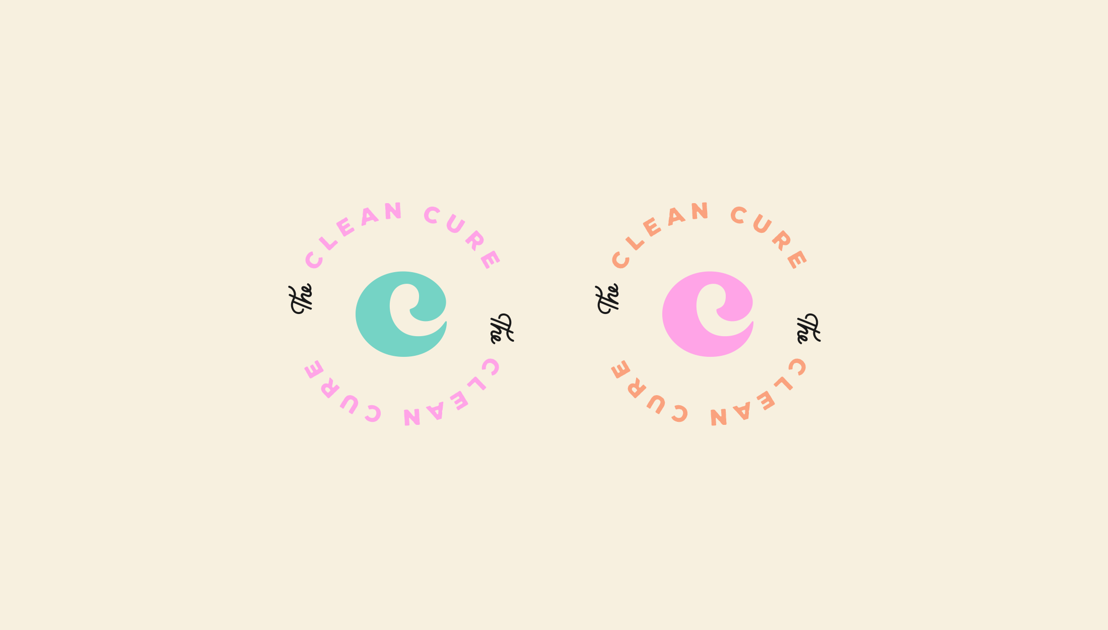 Logomark design for The Clean Cure, helping you get organised by delving to the root of the problem - designed by Wiltshire-based graphic designer, Kaye Huett