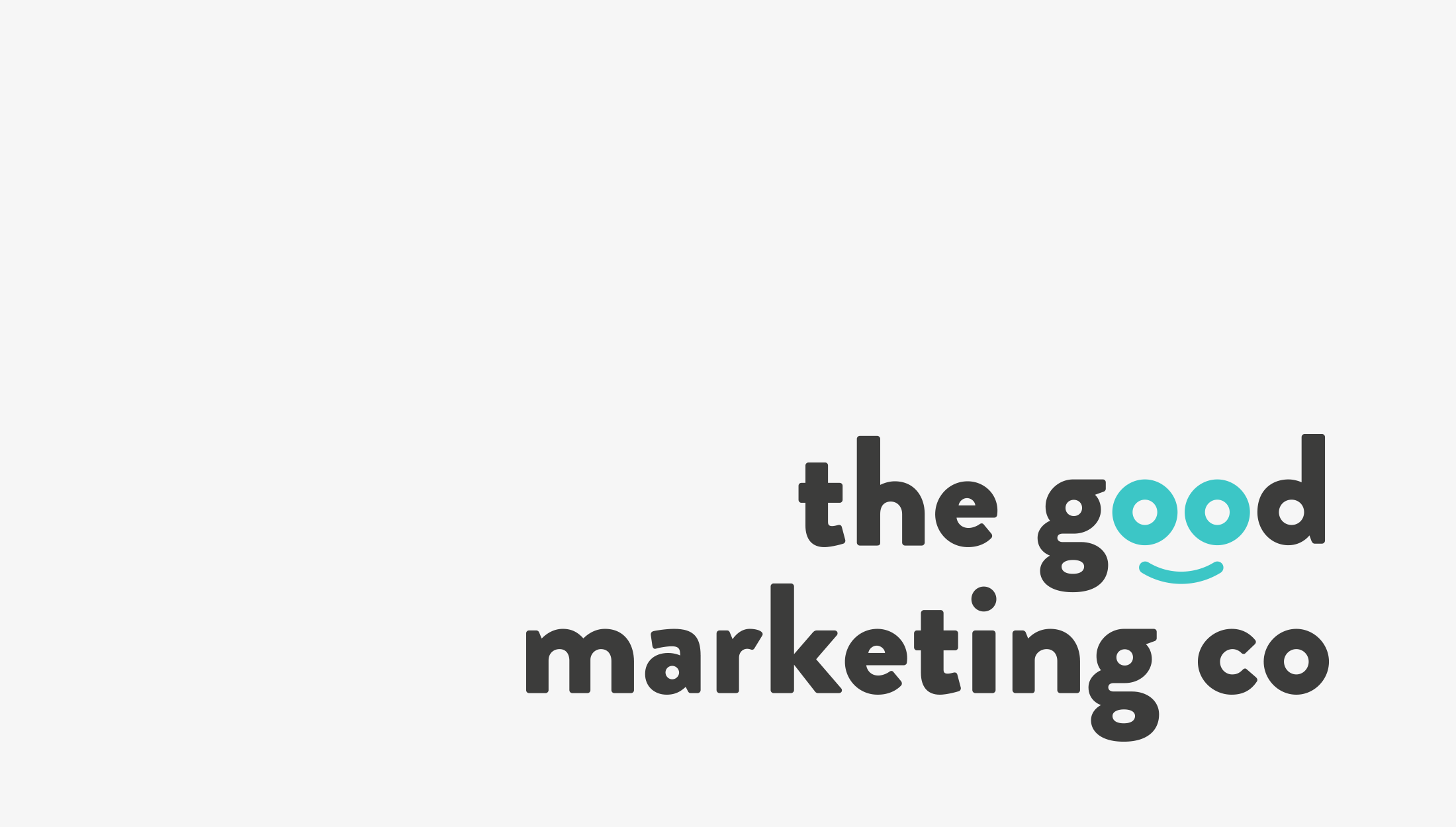 Final logo design for The Good Marketing Co, a health and wellness marketing agency with honest and ethical values - designed by Wiltshire-based graphic designer, Kaye Huett
