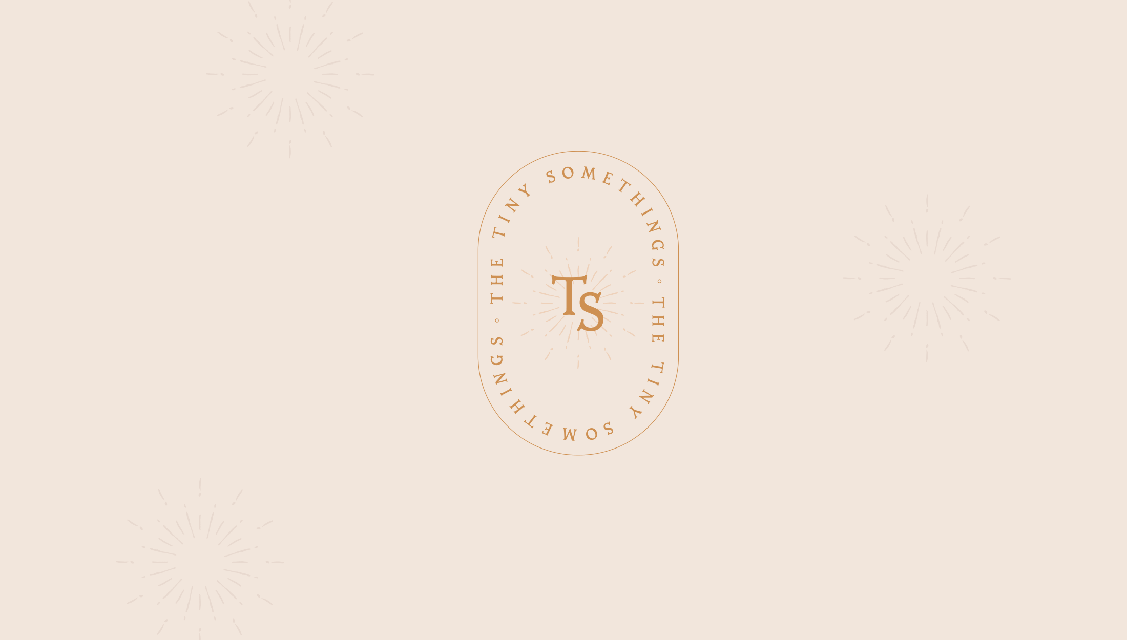 Logomark for The Tiny Somethings, a lifestyle blog that shares little snippets of advice and experiences on different areas of life including personal growth, self-love, spirituality, health & wellness, and more - designed by Wiltshire-based graphic designer, Kaye Huett