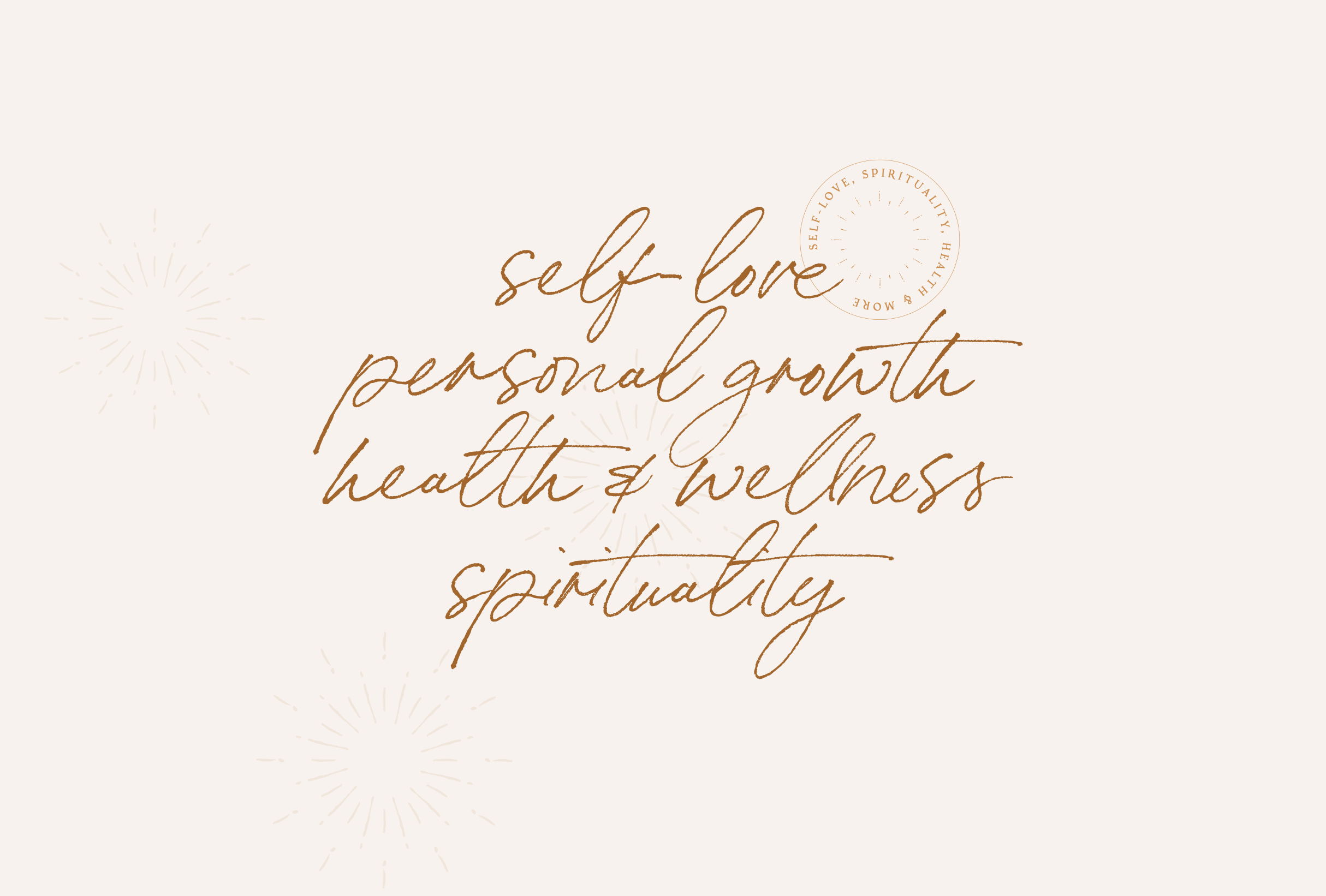Subjects graphic for The Tiny Somethings, a lifestyle blog that shares little snippets of advice and experiences on different areas of life including personal growth, self-love, spirituality, health & wellness, and more - designed by Wiltshire-based graphic designer, Kaye Huett