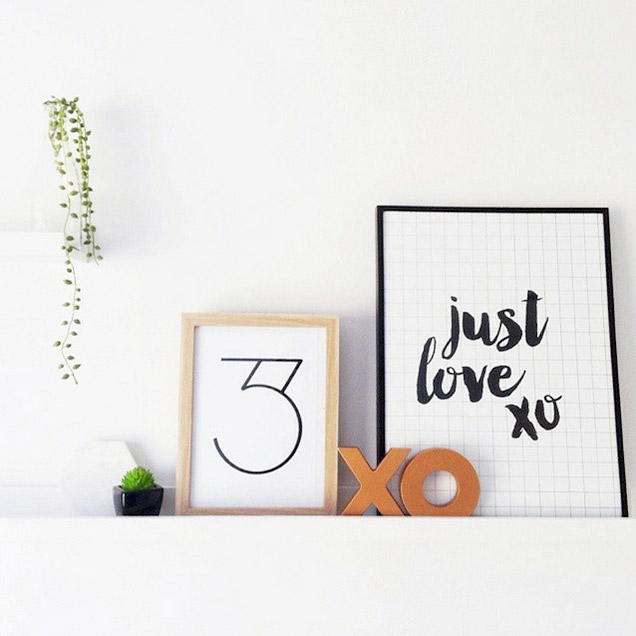 'Just Love' Grid Print by Toucan Online