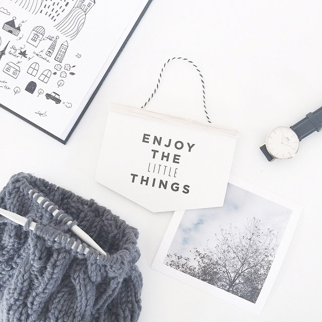 'Enjoy The Little Things' Banner Card - Papermint Studio, AUS