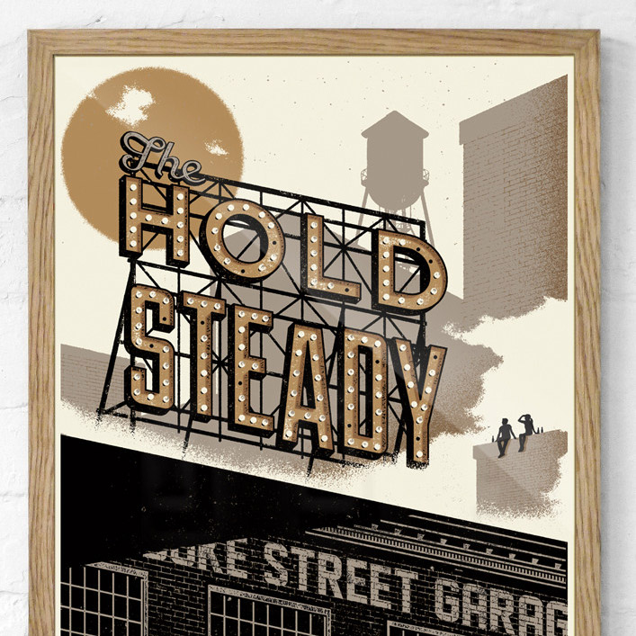 Hold Steady Gig Poster Screenprint - Telegramme