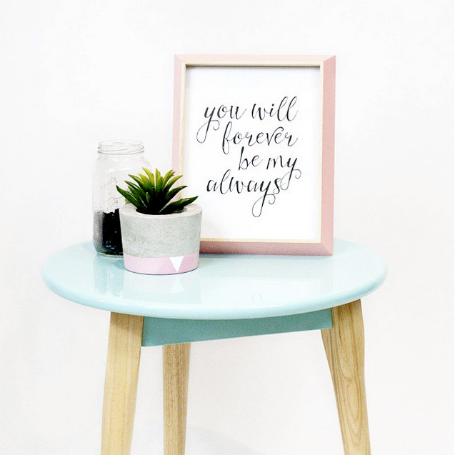 'You Will Forever Be My Always' Typographic Print by Toucan Online