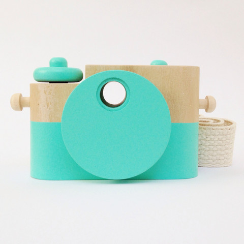 Twig Creative Teal & Wood Camera - Scout and Co.