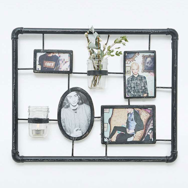 Black Pipe Iron Collage Frame - Urban Outfitters UK