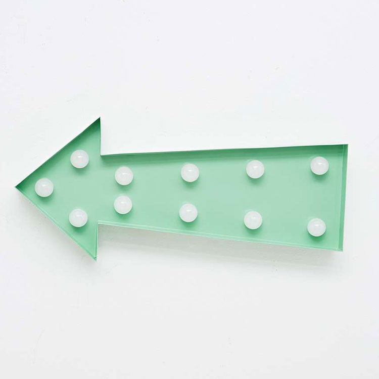 Large Mint Arrow Light - Urban Outfitters UK