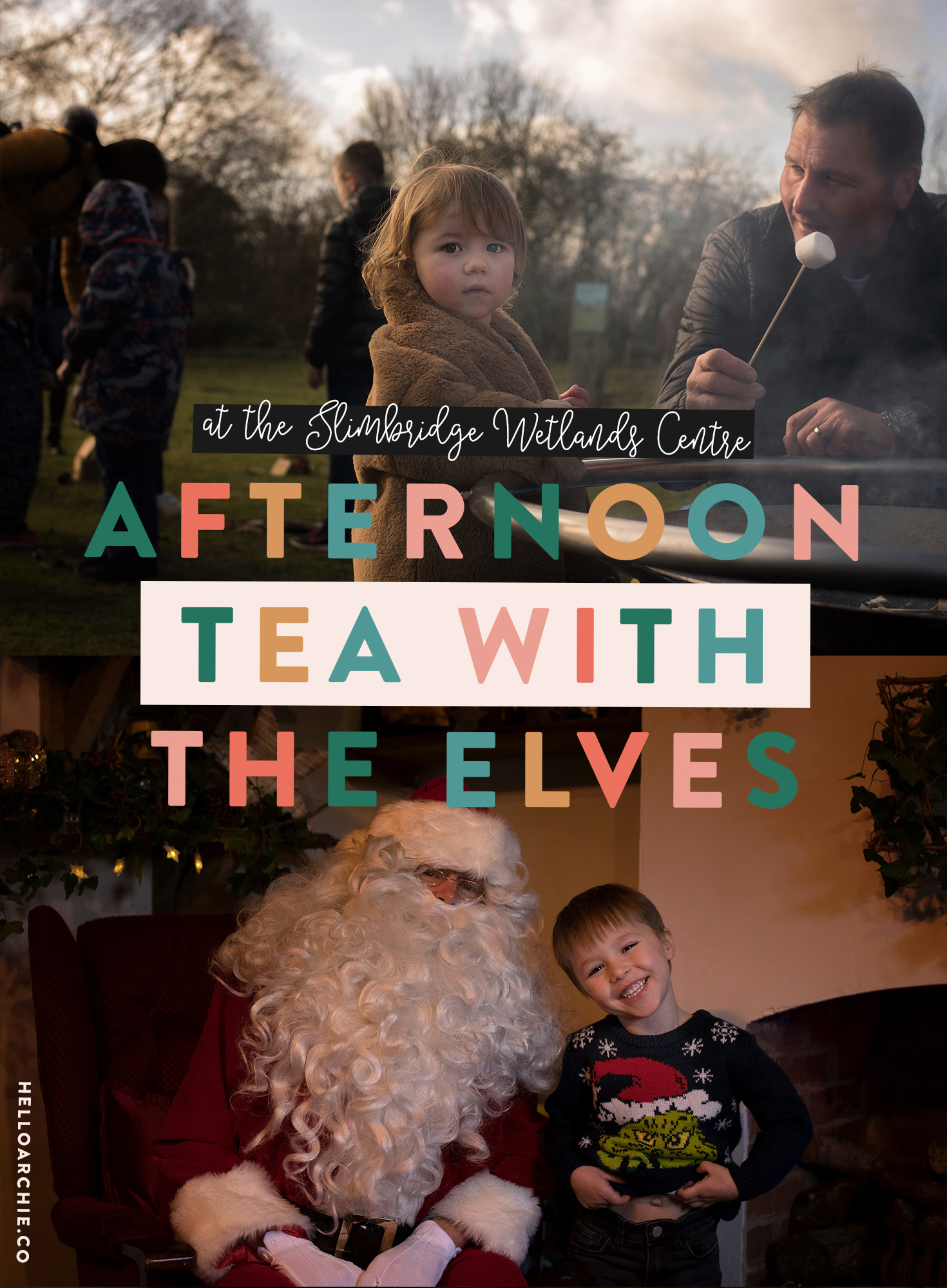I spotted a leaflet for Santa's Grotto and afternoon tea with the elves at the Slimbridge Wetlands Centre, and as it's somewhere we'd previously visited and had a great time, we decided to round up the grandparents and visit for the day on Christmas Eve Eve Eve.