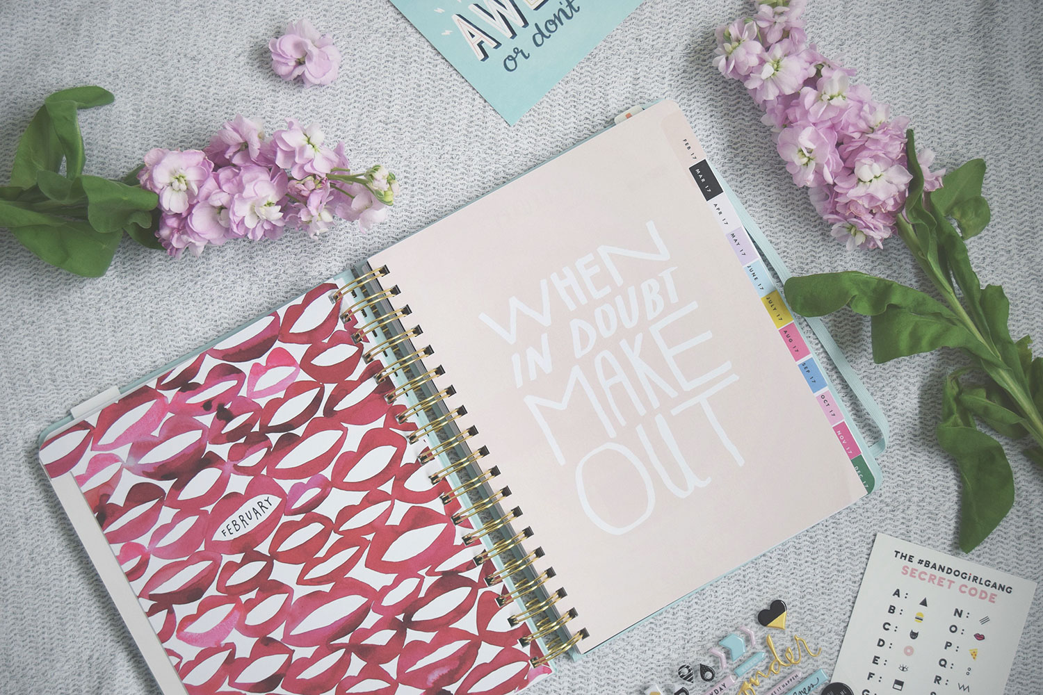 My New Planner; Seriously Adorable Stationery Haul - New 'I am very busy' 2017 Bando planner/organiser/diary from Unwrap Colour and stickers/paperclips from Hey Little Magpie with discount code