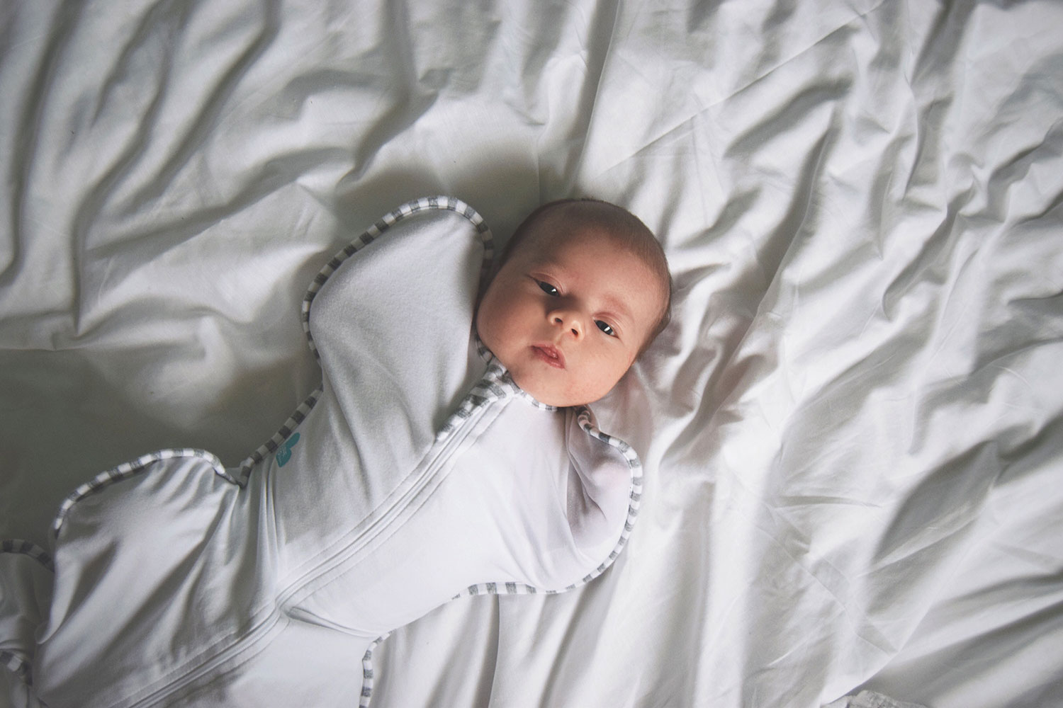 The Love to Dream SwaddleUP; Swaddling with Arms! - Newborn baby swaddling with arms up for self soothing