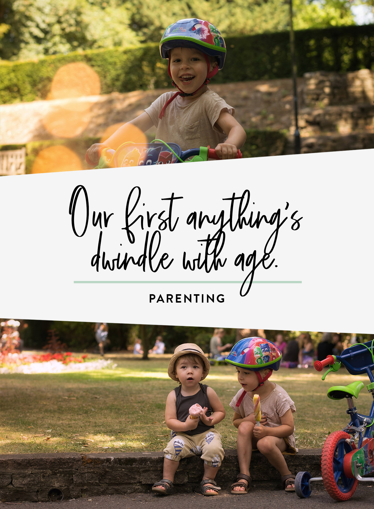 Talking about experiencing first's with our children and how it causes us to relive our own - Archie's first bike