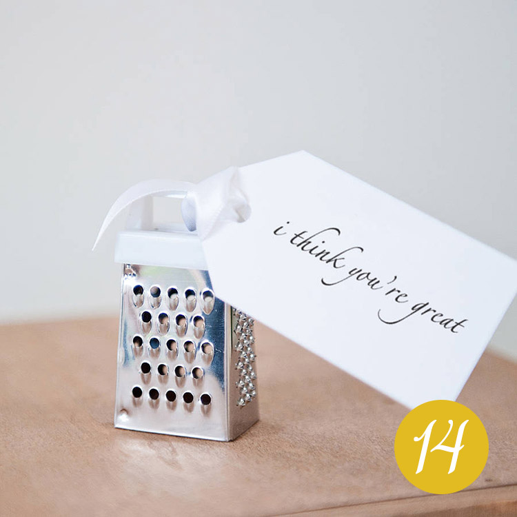 Personalised 'I Think You're Great' Mini Grater