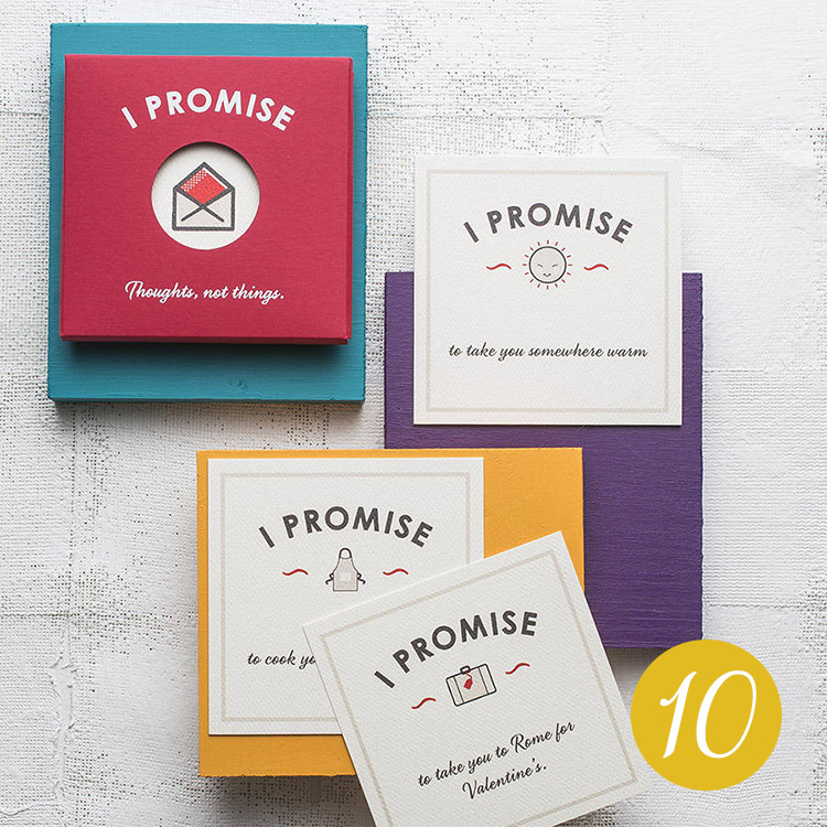 Personalised 'I Promise' Cards