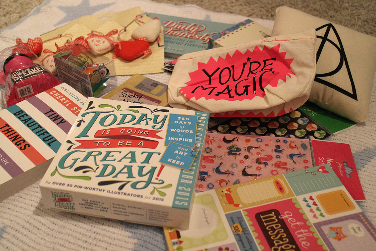 Birthday present parcels received from penpal