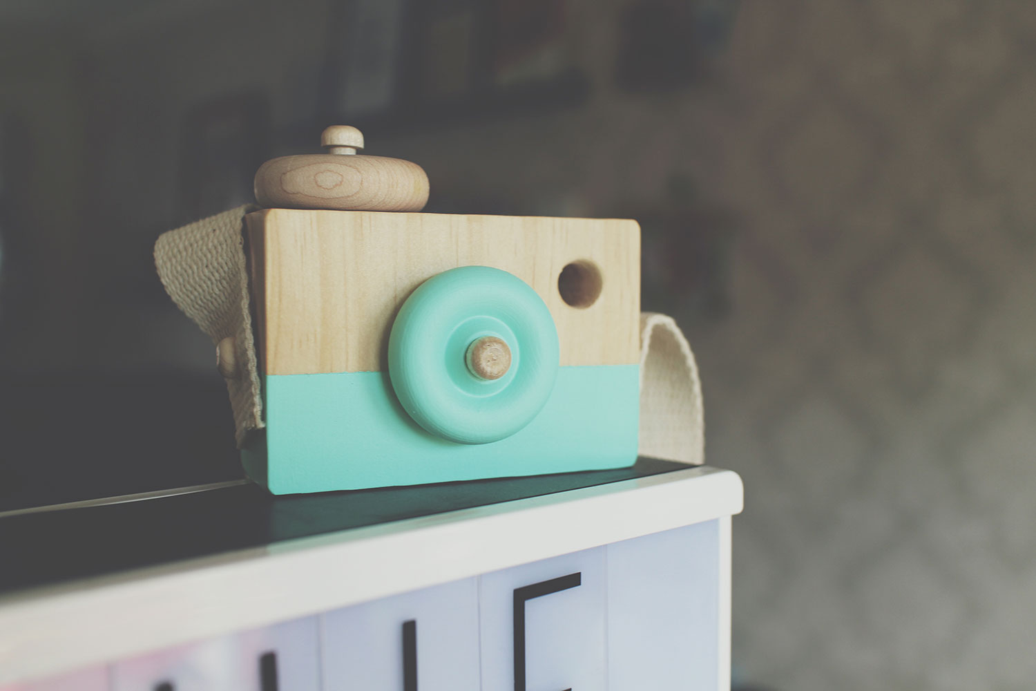 5 of the Best Wooden Toys for Toddlers - Behind the Trees handmade wooden painted camera toy