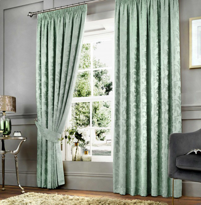 Duck Egg high quality curtains from Yorkshire Linen