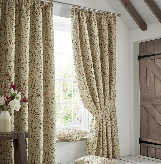 Poppy high quality curtains from Yorkshire Linen